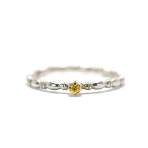 Mini Solitaire Ring with Yellow Diamond