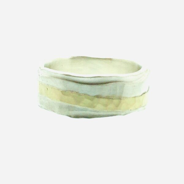 picture of silver ring with gold