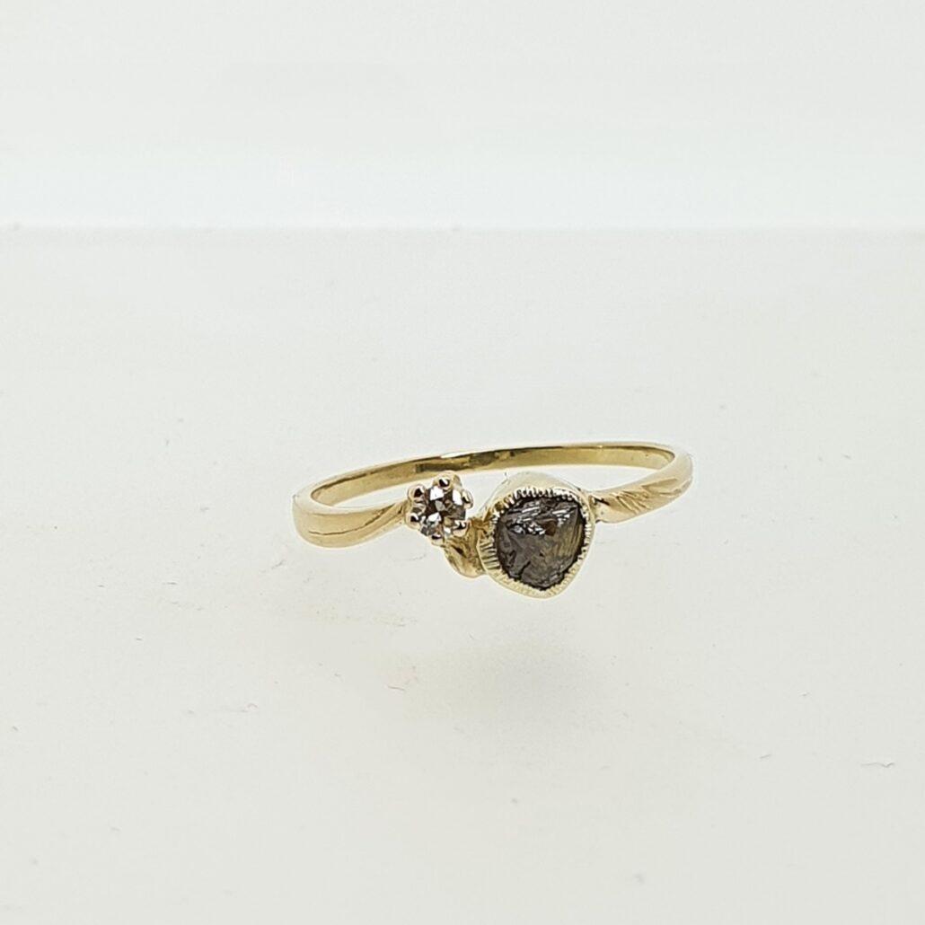 Organic Diamond Ring