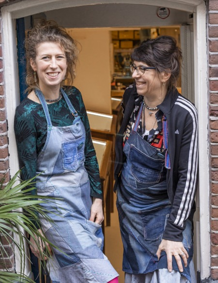 Froukje van der Avoird and Margriet Cuijpers at BLOU Amsterdam
