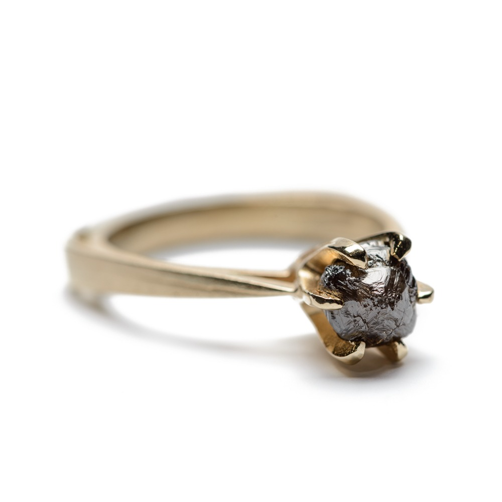Diamond Claw Ring - Brown